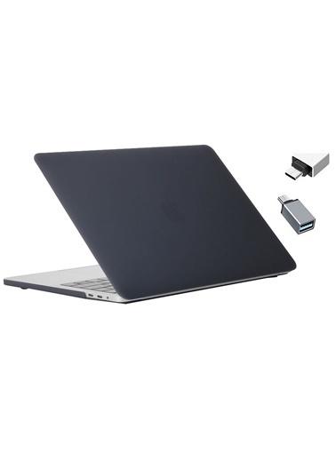 """Mcstorey Yeni MacBook Pro Type-c A1707 A1990 15.4"""" Kılıf Kapak Hard case Mat Siyah"""